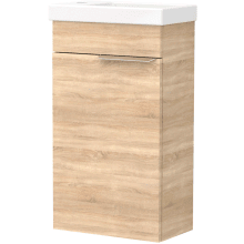 Vio Wall-Hung Cloakroom Washbasin Unit Only Lh -Natural Oak