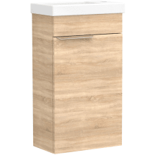 Vio Wall-Hung Cloakroom Washbasin Unit Only Rh -Natural Oak