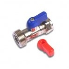 Washing Machine Tap with Check Valve 15mm x 3/4""