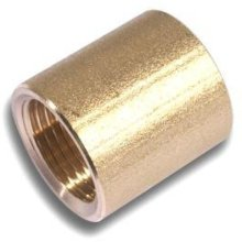 "Westco F x F Socket 1/4"" Brass"