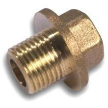 "Westco Flanged Plug 3/8"" Brass"