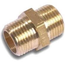 "Westco Hexagon Nipple 1/8"" Brass"