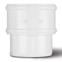 Polypipe 68mm Round Downpipe Connector White
