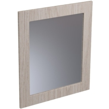 Atlanta 600mm Tall Framed Mirror White Gloss