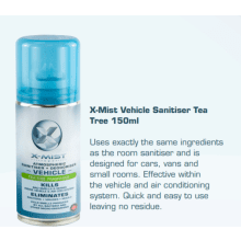 X-MIST VEHICLE SANITISER 150ML 7 DAY PROTECTION