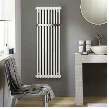 Zehnder Charleston Bar 2 Column 1492 x 762mm Towel Radiator White