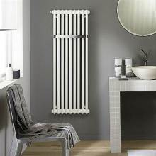 Zehnder Charleston Bar 2 Column 1492 x 486mm Towel Radiator White